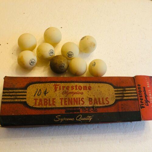 Vintage Firestone Olympian Table Tennis Ping Pong Balls in original Box