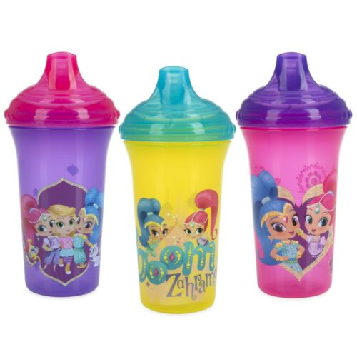 Nuby 3-Pack Nickelodeon Shimmer & Shine No-spill Easy Sippy Cups - Hard Spout