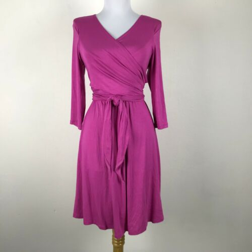 Pip & Vine Rosie Pope Pink Maternity Nursing Wrap Dress 3/4 Sleeves Size S