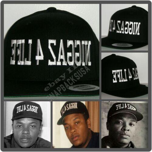 NEW Niggaz 4 Life EFIL4ZAGGIN Black Snapback Hat Cap NWA Dr. Dre Eazy E Compton