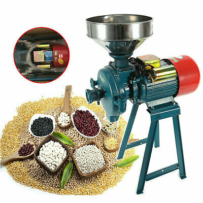 110v 2200w Electric Grinder Wet Dry Feedflour Mill Cereals Grain Corn Wheat