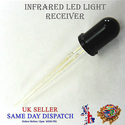 Led-receiver (940nm Infrared LED Receiver Black 5mm IR High Power Lamp)