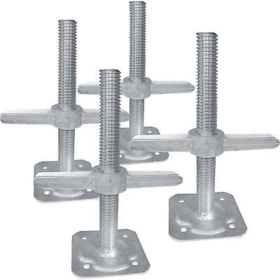 Metaltech IIBSJP12H4 Adjustable Leveling Jacks-4Pk., For Baker-Style Scaffolding