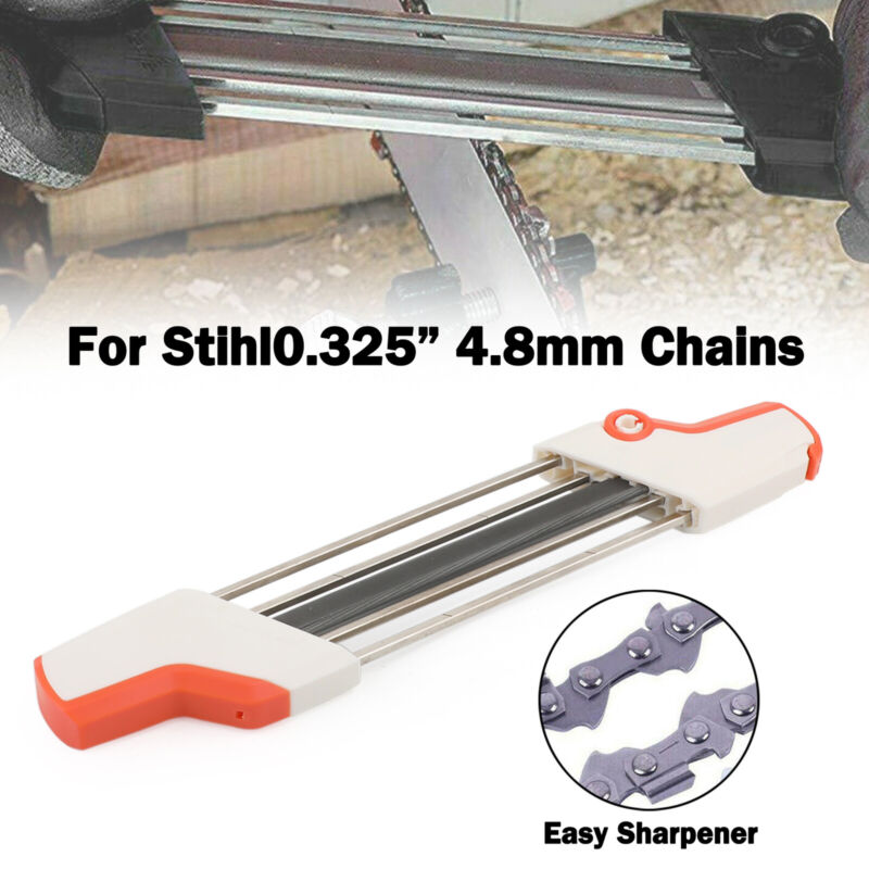 """2 IN 1 Chainsaw Teeth Quick Sharpener File For STIHL .325"""" 4.8mm Chain UA"""