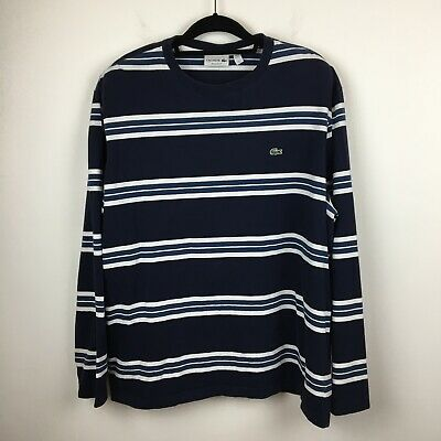 Mens Lacoste Striped Long Sleeve T-Shirt Size 9 (XXL)