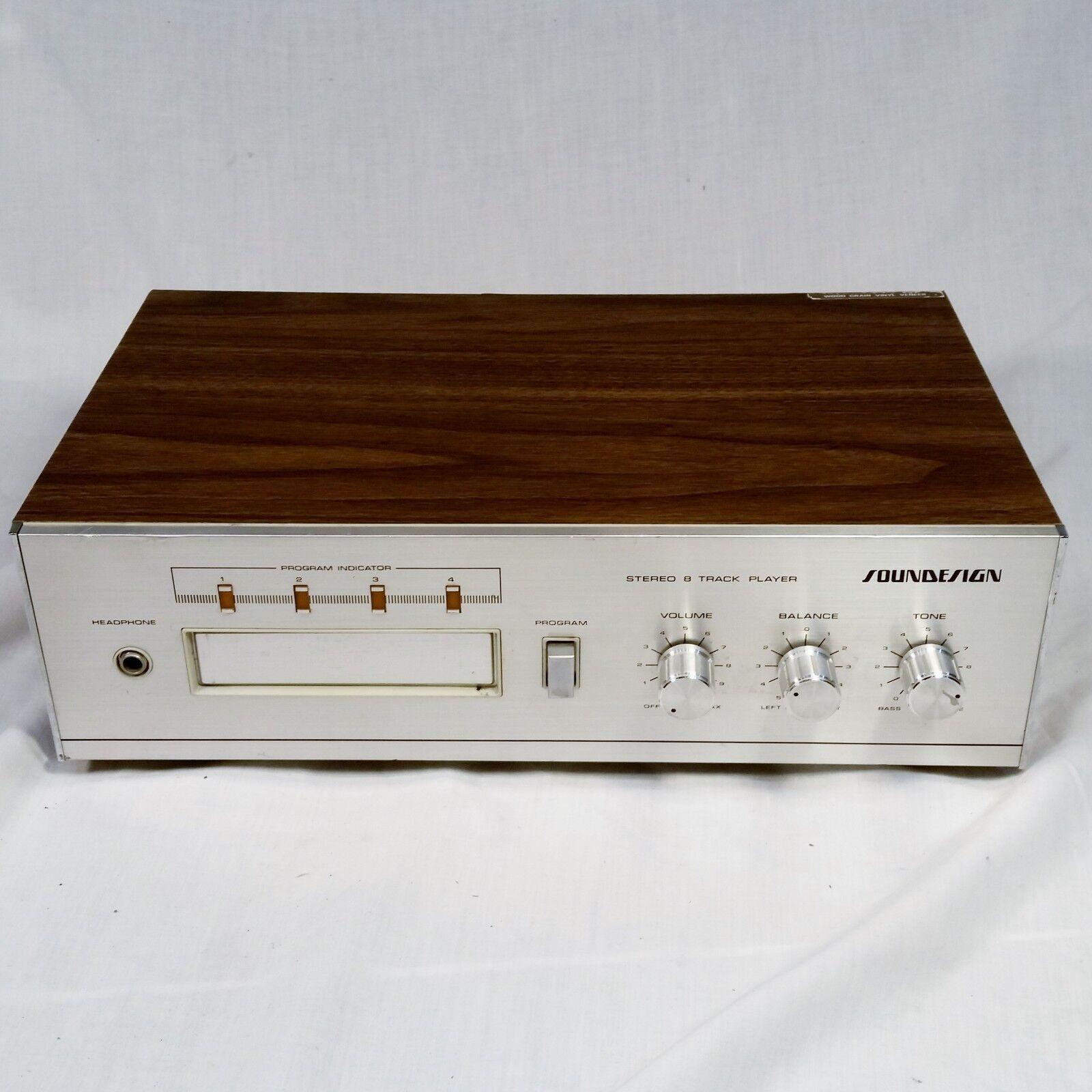 Vtg Soundesign 5018 8 Track Player Stereo Alleinstehend Interner Verstärker