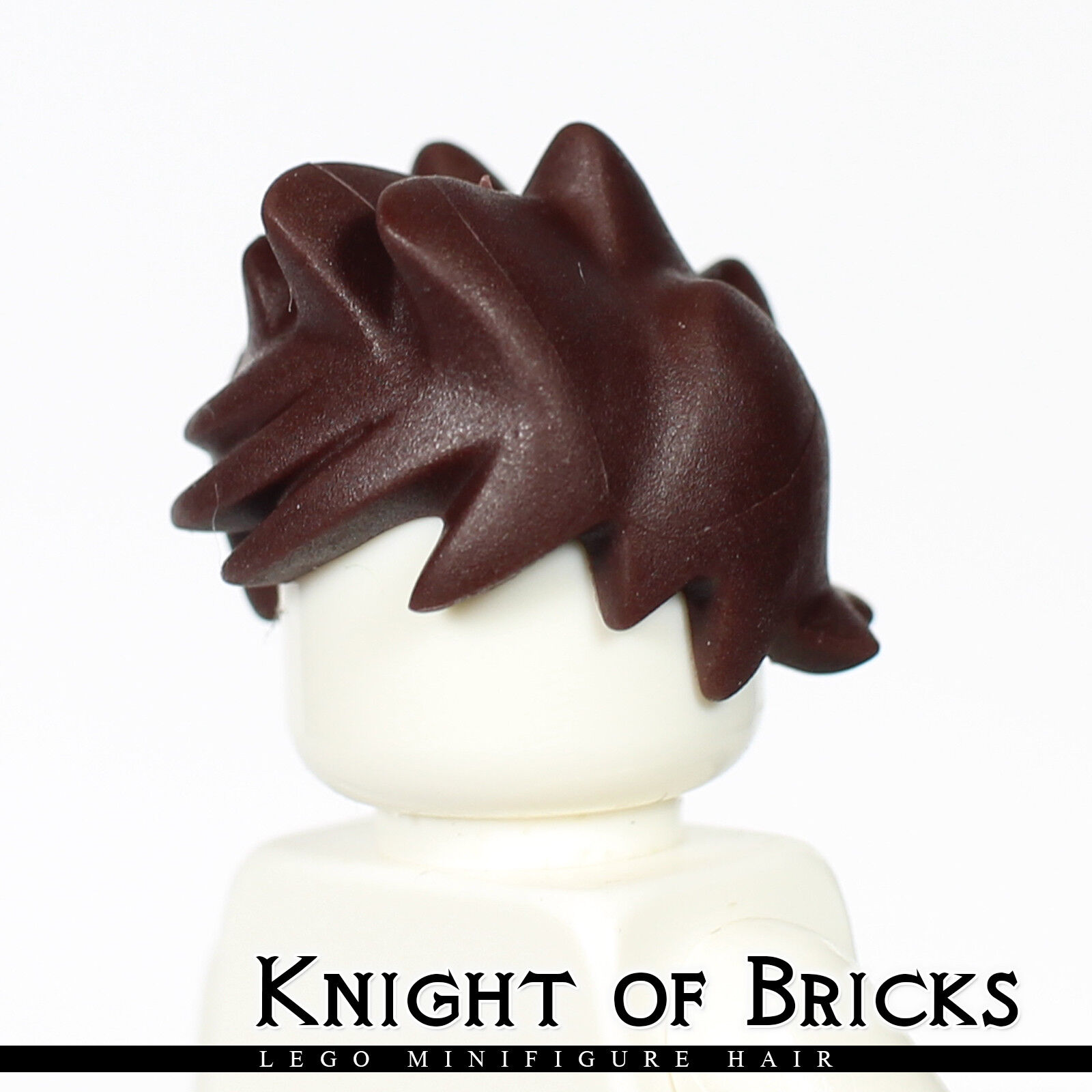 LEGO Minifigure Hair DARK BROWN 15705 Male Spiked and Tousled