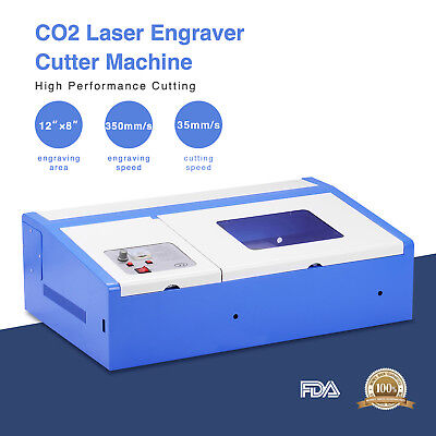 40w Co2 Usb Laser Engraving Cutting Machine Commercial Engraver Cutter 12x8