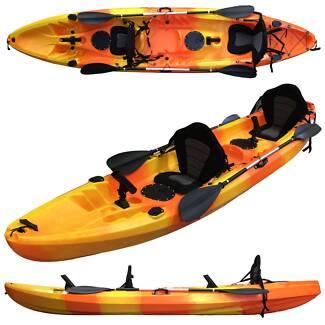 Nelson bay kayak 3.7M double fishing kayak 2 paddles 2 seats