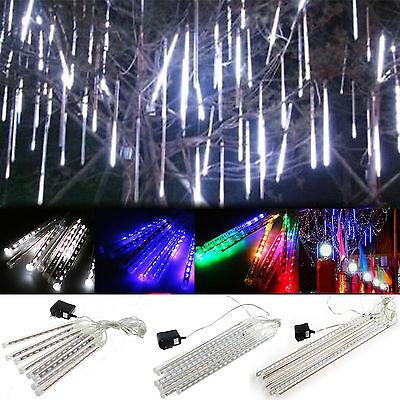 Xmas LED Fairy Meteor Shower Falling Rain Drop Icicle Snow Tree String Lights ()