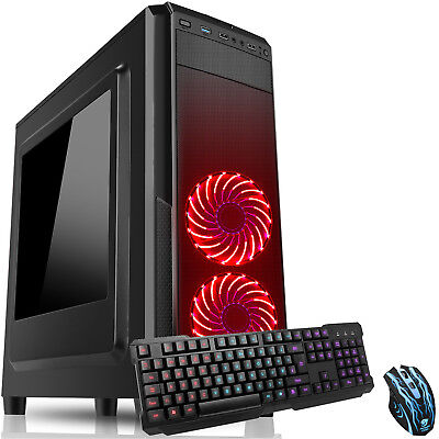 Computer Games - ULTRA FAST QUAD CORE 4.0Ghz 16GB 1TB DESKTOP GAMING PC COMPUTER AMD Dominator
