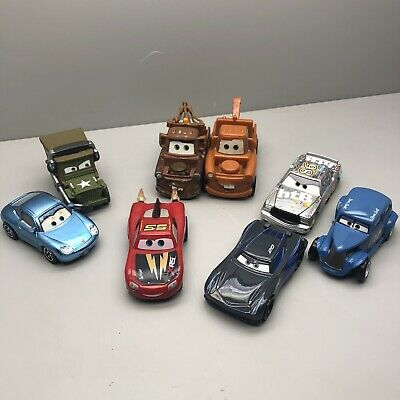Pixar CARS Lot Of 8 Character Figure Vehicles Mater Jackson Storm Disney Toys