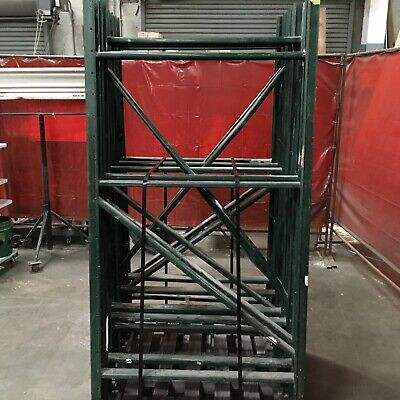 Lot Of 10 Pallet Racking Uprights 44w X 84h X 3 Deep