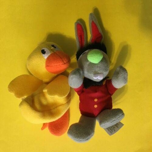 Vintage 1999 Kelloggs Sesame Street Mini Beans Toys Benny Rabbit Rubber Duckie