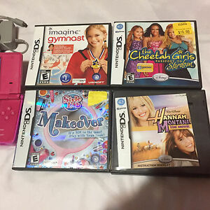Pink Nintendo DSI  with charger, case four games for only 50$ London Ontario image 2