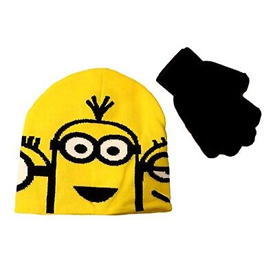 Despicable Me Minions Gloves Beanie Set NEW IN STOCK
