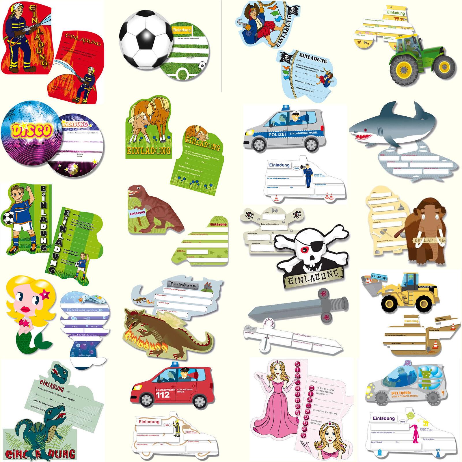Einladungskarten für Kindergeburtstag & Mottoparty - MEGA AUSWAHL - Kinder Party