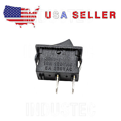 Spst Kcd1-101 Small Rocker Switch On-off 6a250 V 12 X 34 Usa Seller Fast Free
