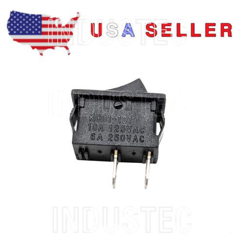 IndusTec SPST KCD1-101 - Rocker Switch 6A/250 V 1/2 X 3/4 cut out 2 pos 12V 24V