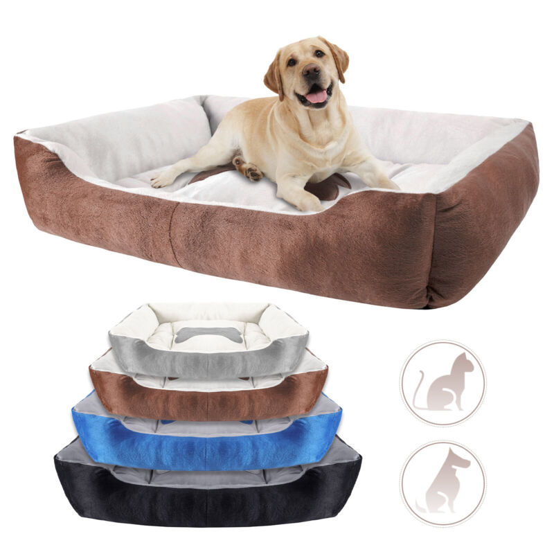 Orthopedic Pet Calming Bed Soft Warm Cat Dog Nest House Small Large Washable Mat