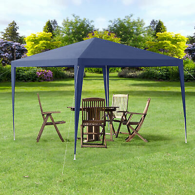 Pabellón 3x3m Carpa para Jardín Cenador Gazebo Quiosco Plegable Azul oscuro