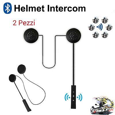 Motorrad Helm Bluetooth Headsets Funk Kopfhörer Stereo HD Lautsprecher Mic