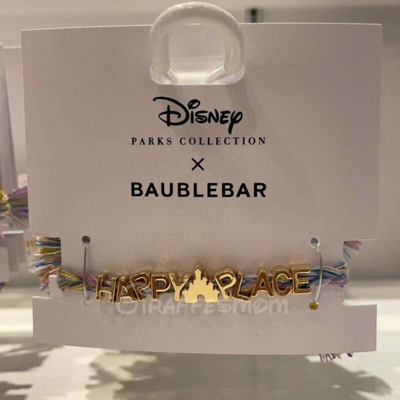 Disney Parks Fantasyland Castle Happy Place Bracelet by Baublebar NWT