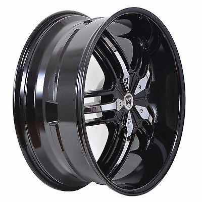 20 Black Fwd Wheels (4 GWG WHEELS 20 inch Black Chrome SPADE Rims fits 5X110 ET38 CHRYSLER 200 FWD )
