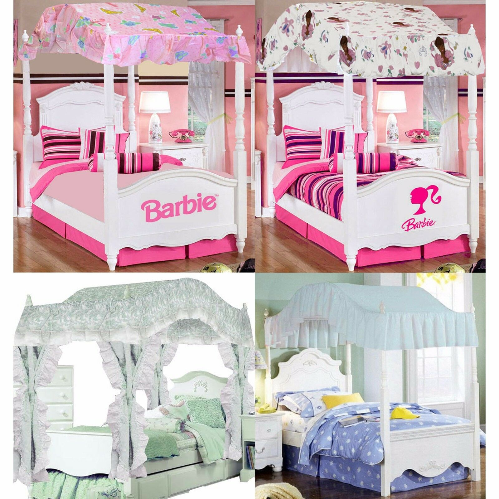 girls bedroom canopy barbie ballerina pricillas sweet