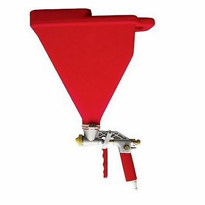 Drywall Stucco Texture Hopper Air Sprayer Gun Tool 3 Spray Tips Wall Ceiling New