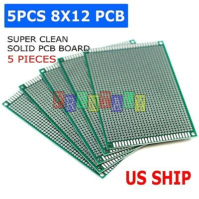 5pcs 8x12 Diy Prototyping Board Pcb Printed Circuit Prototype Breadboard Arduino