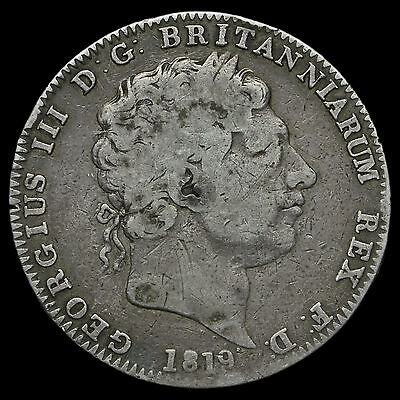 1819 George III Milled Silver LIX Crown – A/F