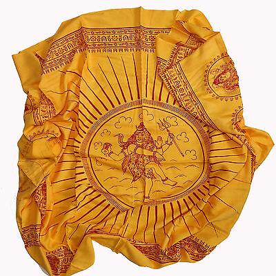 Scarf Cloth Lunghi Sarong Mantra Benares Deco Cloth Shiva Nataraja India Goa 17