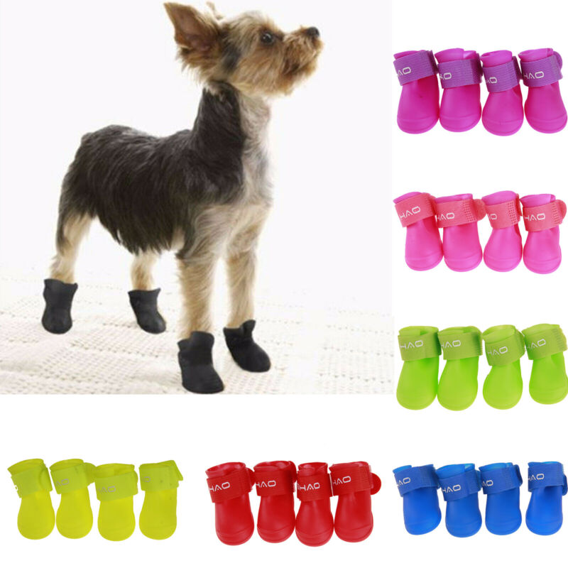 Pets Shoes Booties Rubber Dog Waterproof Anti-slip Rain Boot