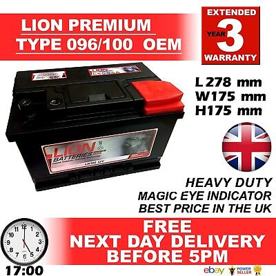 019 Titanium Car Van Battery 12V 850CCA - 4 Year Warranty