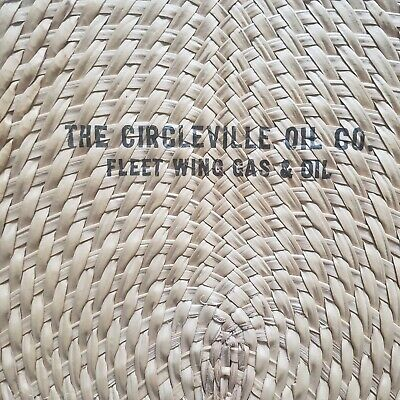 Circleville Oil Company Hand Held Advertising Fan Vintage Ohio