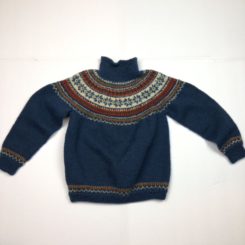 Made In Norway Kids Wool Sweater Sz Small (Measurements in Description)