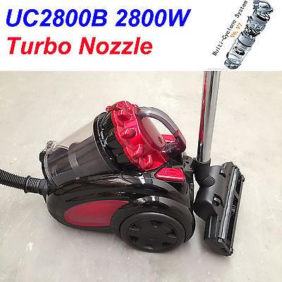 New Turbo Nozzle 2800W Bagless True Cyclonic HEPA Vacuum Cleaner Free Postage