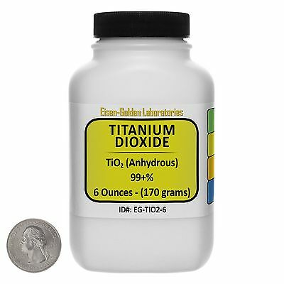 Titanium Dioxide Tio2 99 Acs Grade Powder 6 Oz In A Space-saver Bottle Usa