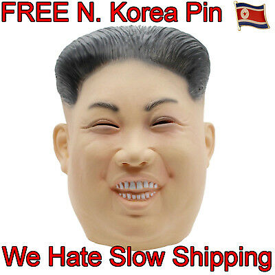 US SHIP++KIM JONG UN Halloween Costume Realistic Rocketman Adult Face Mask Latex - Realistic Face Mask Halloween