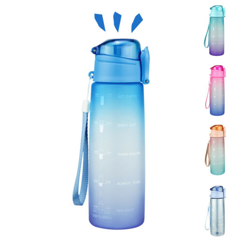 32oz Motivational Water Bottle with Time Marker Leak-Proof BPA Free