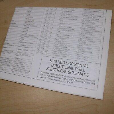 Case 6010 HDD Horizontal Taladro Hidráulico Eléctrico Esquema Cableado Manual