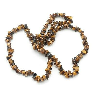 Tigers Eye Semi Precious Gemstone Chakra Necklace -