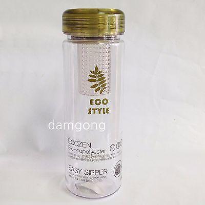 Ecozen Bio-Copolyster Tea Tumbler Bottle with infuser easy sipper 500ml