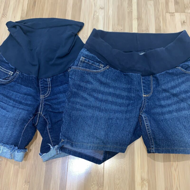 LOT OF 2 Maternity Jean Shorts Size Small By Motherhood And Indigo Blue Denim