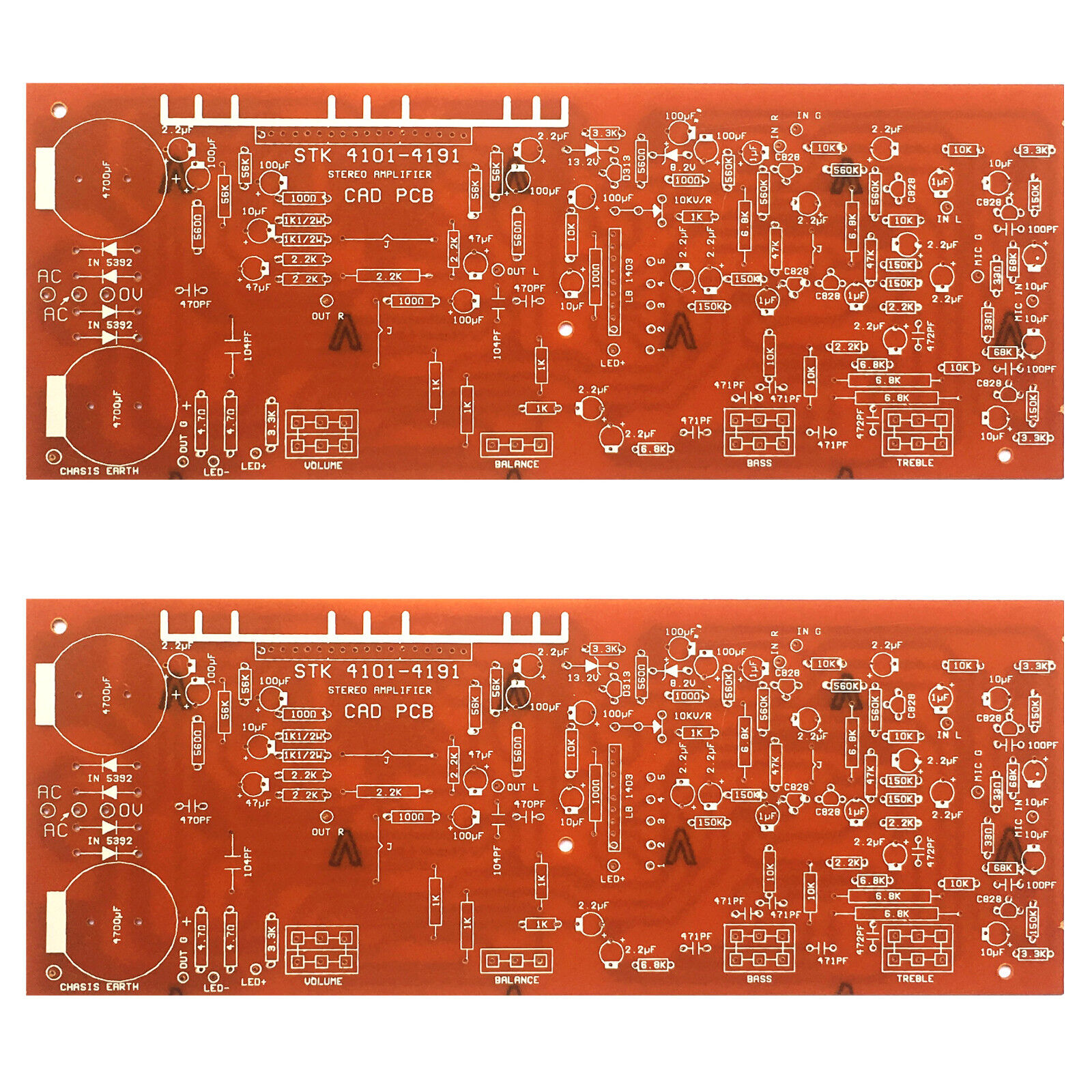 Stk 4101 4191 100w Stereo Power Amplifier With Mic Pre Amp Pcb Ccl Anti Etching Circuit Board Ink Marker Pen For Diy Ebay