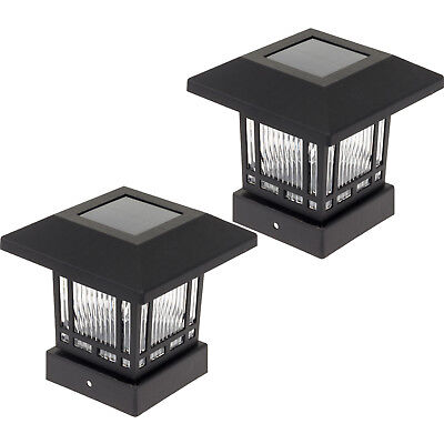 Westinghouse New Solar 4 X 4 Post Cap Light For Wood Posts  2 Pack