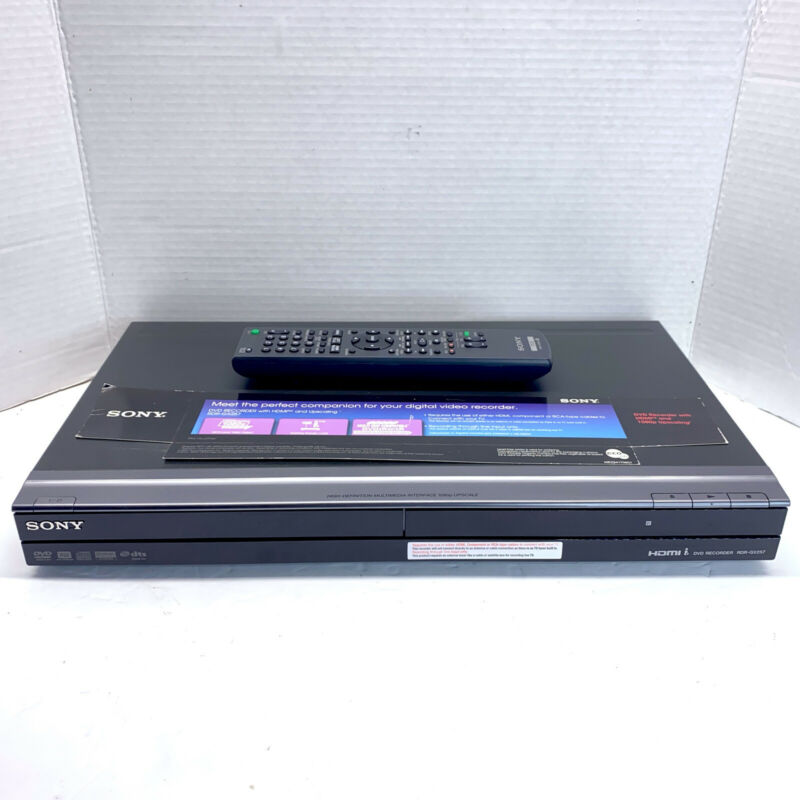 Sony RDR-GX257 DVD Recorder Player 1080P HDMI Upscaling w/ Remote - TESTED