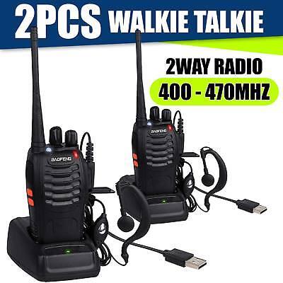 Police Walkie Talkie (2 x Baofeng Walkie Talkie 2Way Radio Handheld Long Range Marine Police 16CH)