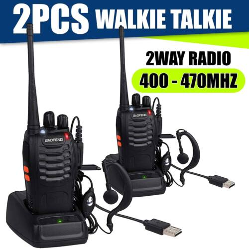 6 PACK Portable Handheld Police Radio Scanner 2 Way Transcei